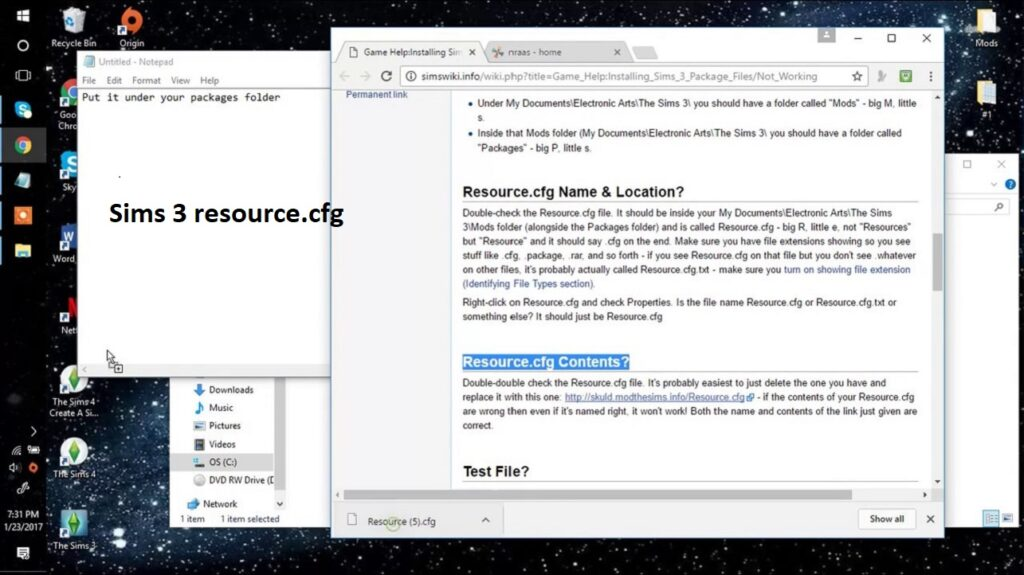 Sims 3 Resource.cfg   Download (Updated)