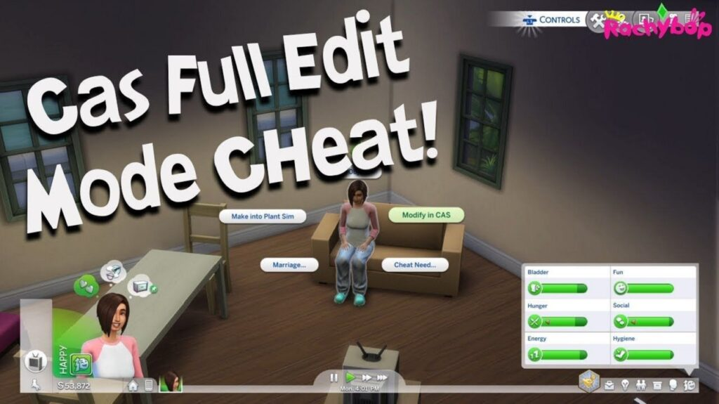 CAS Full Edit Mode Cheat (Create a Sim In Sims 4